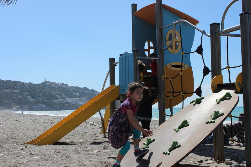 One of the many Children's play areas on the beach and nearby