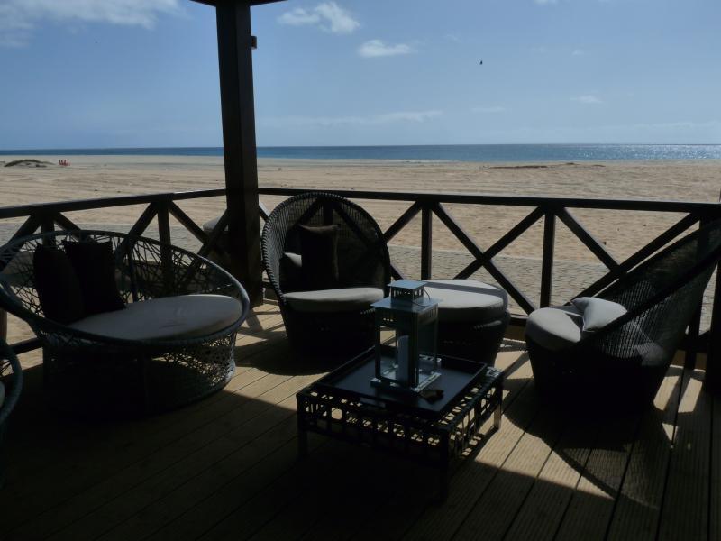 Beach bar seating area