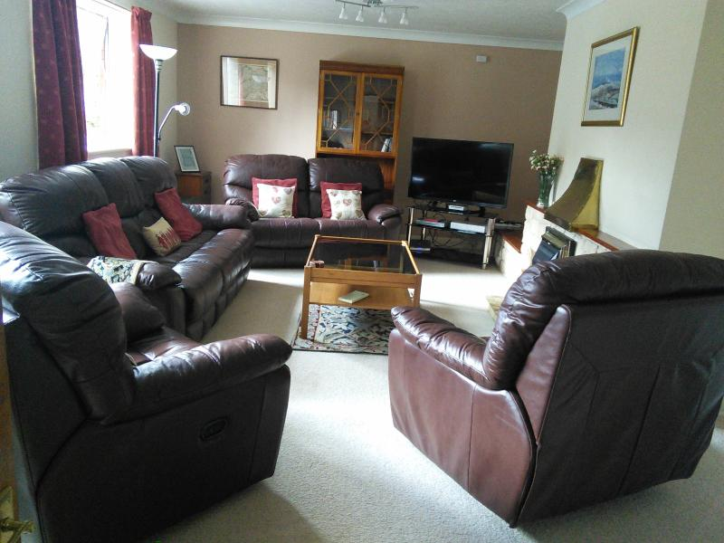 LARGE COMFORTABLE LOUNGE SEATS 7, SMART TV, Wi Fi, recliners.