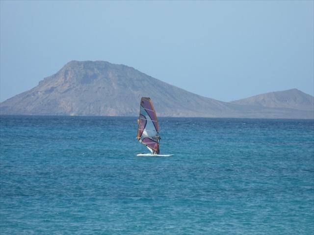 Perfect windsurfing seas