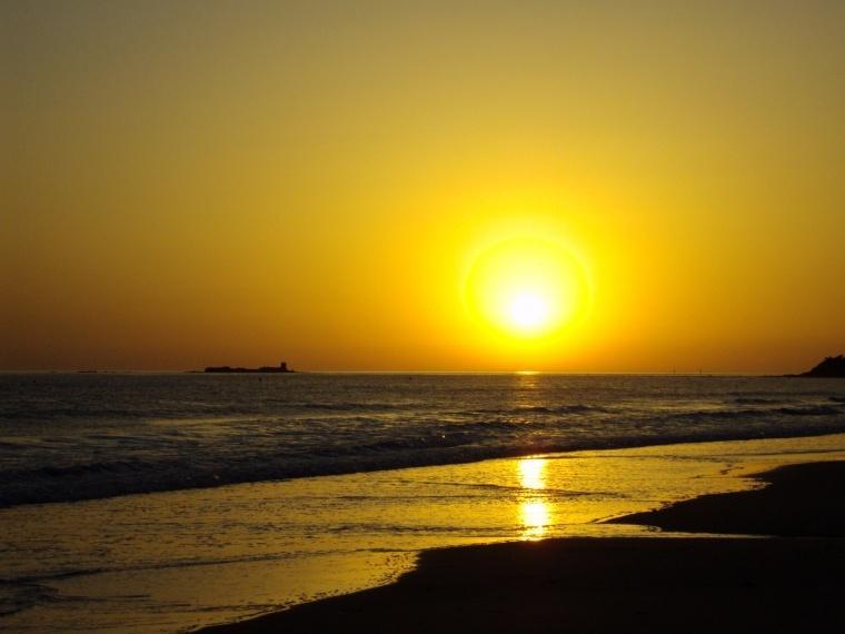 Puesta de Sol, en la Playa La Barrosa.