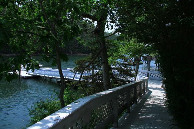 Aangelegde privé Waterfront Dock gebied