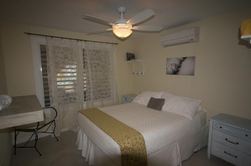 A/C and fans in all bedrooms.