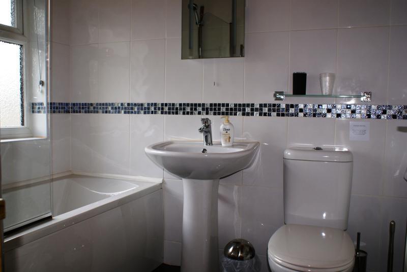 Banheiro do chalé de bétula
