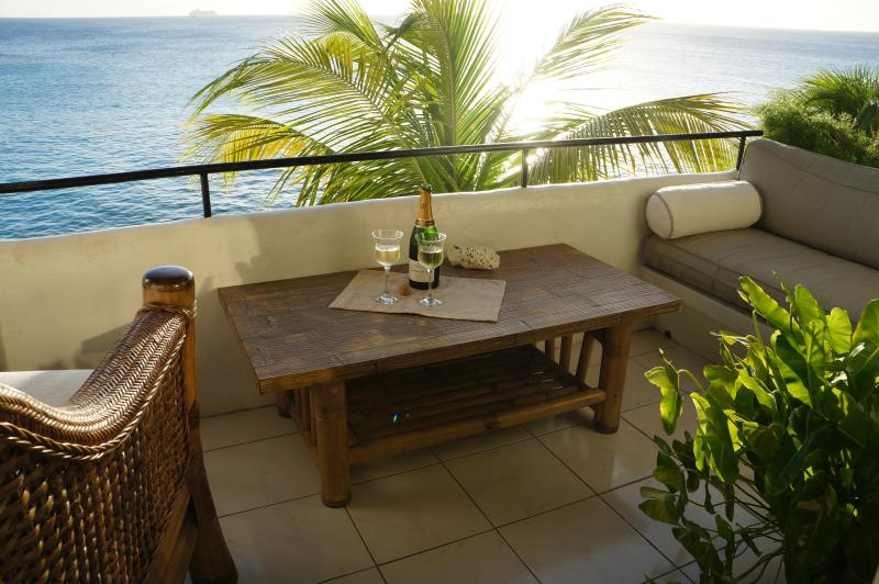 Main balcony overlooking the Caribean Sea