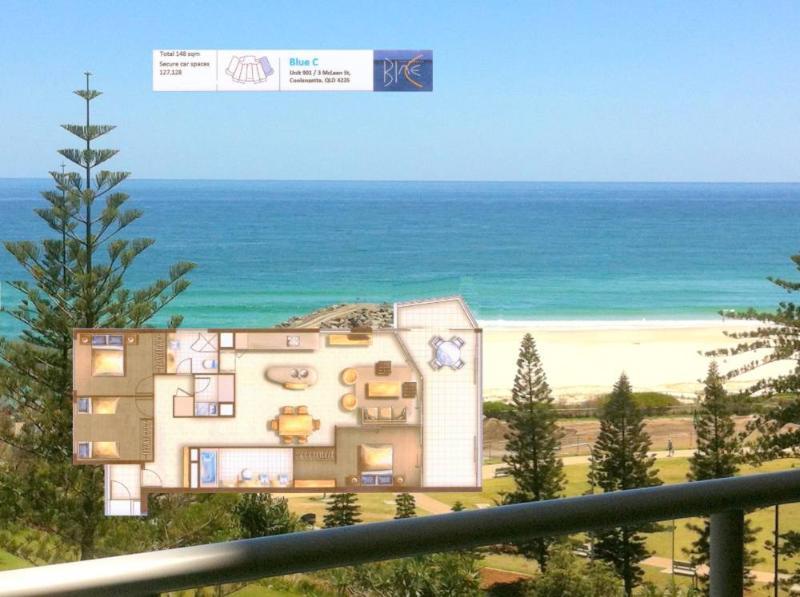 Blue C Unit 901 - Right on Coolangatta Beachfront, vacation rental in Gold Coast