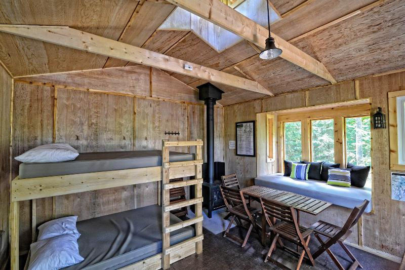 typical interior - Fully equipped, off grid, propane and 12 volt ready, kitchenette