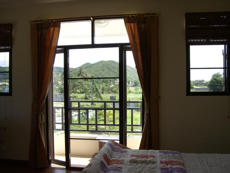 Master Bedroom - view over balcony - mosquito blinds fitted (throughout house)