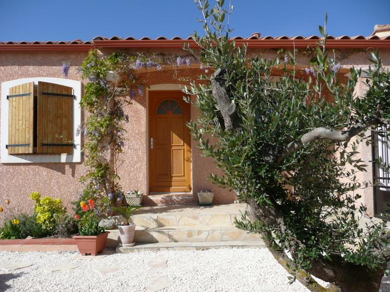 Quiet villa with pool, holiday rental in Canohes