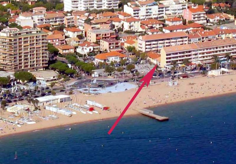 Aerial Photo of Location,  just meters from the beach.