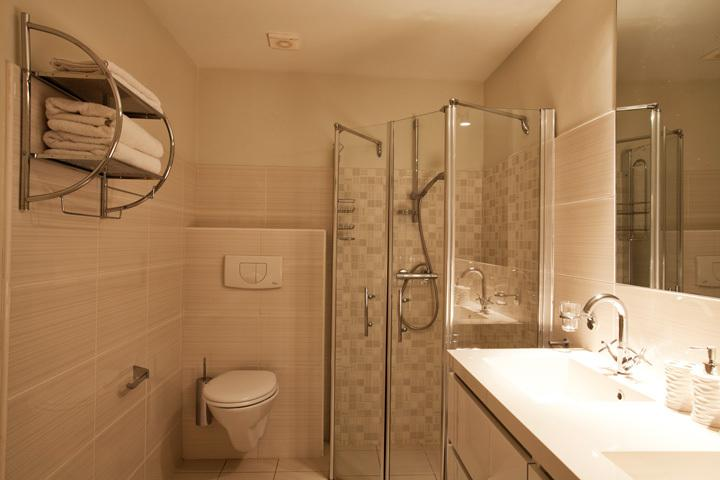 Ensuite bathroom at Master Bedroom with bath, shower, toilet and double sink