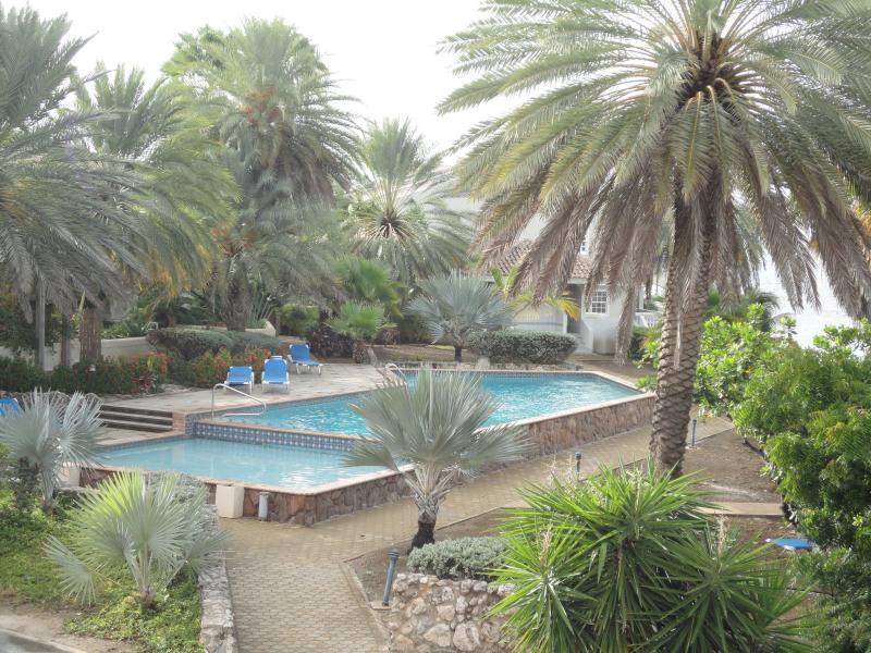 The pool is right in front of your apartment, have a swim in the morning to start your day!