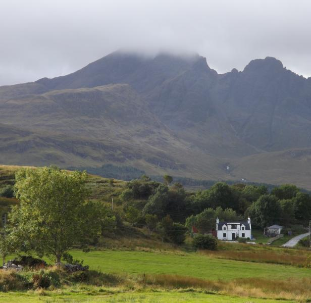 The village of Torrin has Blaven dominating the Skyline!