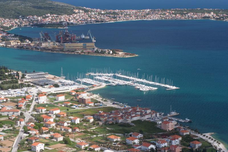 Trogir, Seget Donji with marina