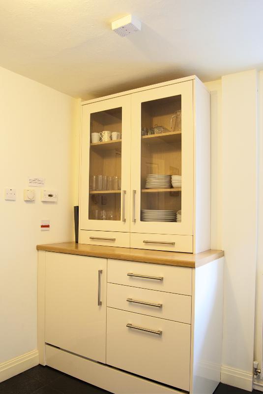 Cozinha do chalé de bétula