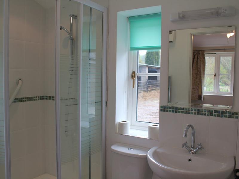 The bedroom has an en suite shower room