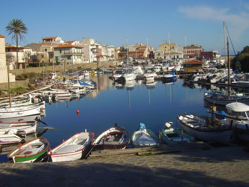 A small port of the nearest town Stintino