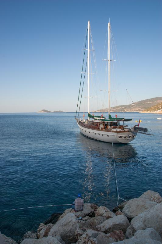 Cruise ships ar Kalkan harbour