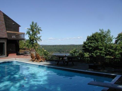 Pool and deck overlooking Hudson River