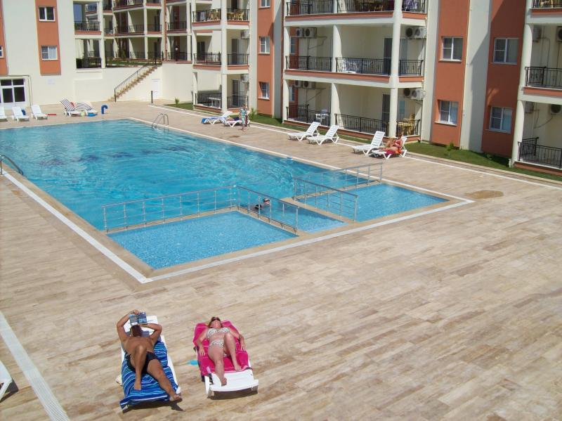 The pool the apartment overlooks