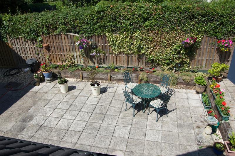 Patio garden as seen from bedroom
