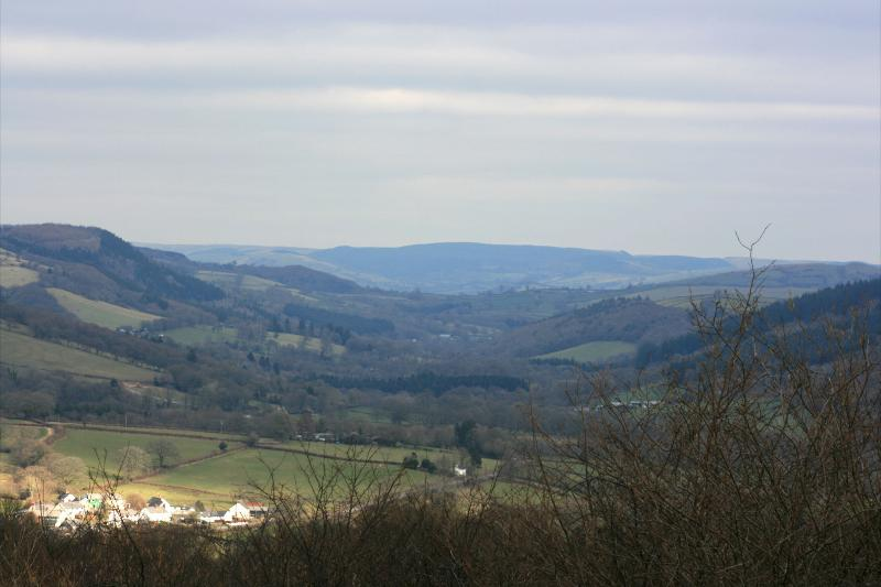 View down cothi valley.