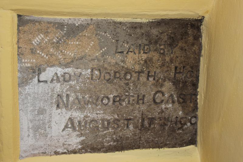 Naworth stone in kitchen wall
