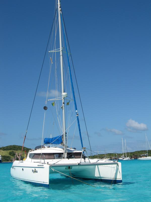 Ngoma anchored in Tobago Quays - 8hrs north of Grenada