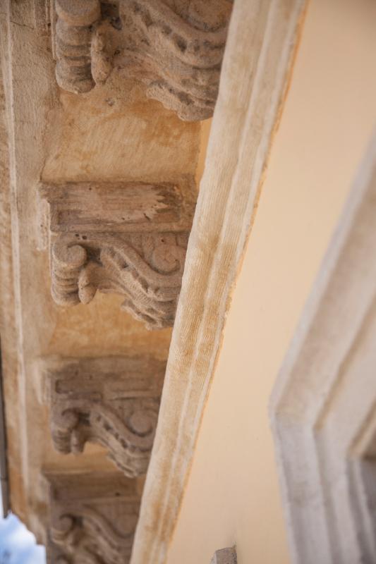 110 year old original handmade soffit corbels-Carved Malta Stone.