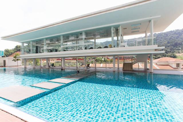 Lovely pool area - there's adults and kids pool. Gym facilities overlook the pool