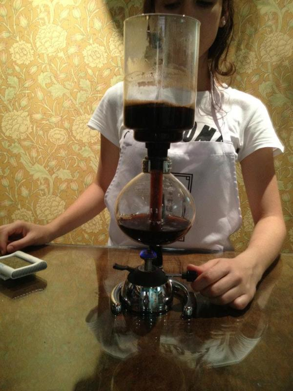 Siphon, Pour over and expresso coffee available at Heirloom Cafe and Market