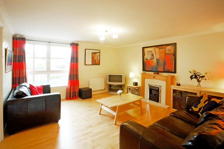 Atholl Brae - the bright and welcoming lounge looks east