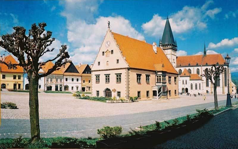 Bardejov basilica and town hall