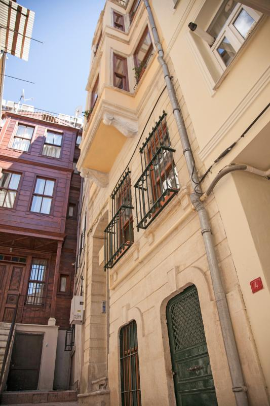 Front view of 110 years old Heirloom Istanbul Building.
