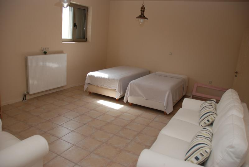 Third bedroom (twin beds and a double sofa bed).
