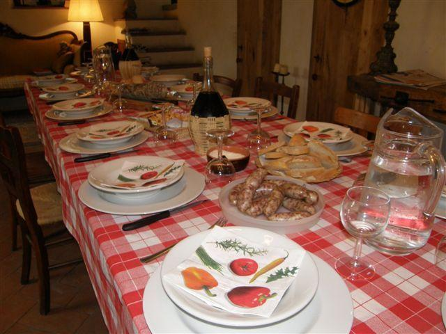 a tuscan dinner with the framers....