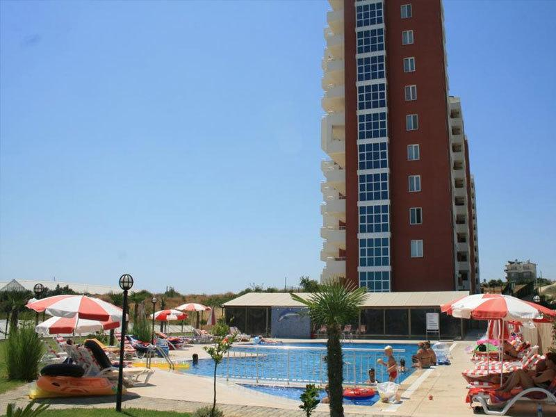 Apartment complex and pool area