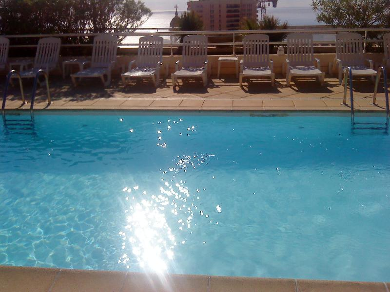 Swimming pool on the rooftop terrace of Palais Josephine