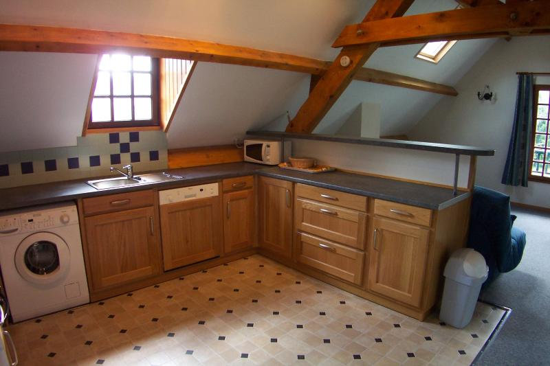The Tourmalet apartment has a spacious living room and kitchen