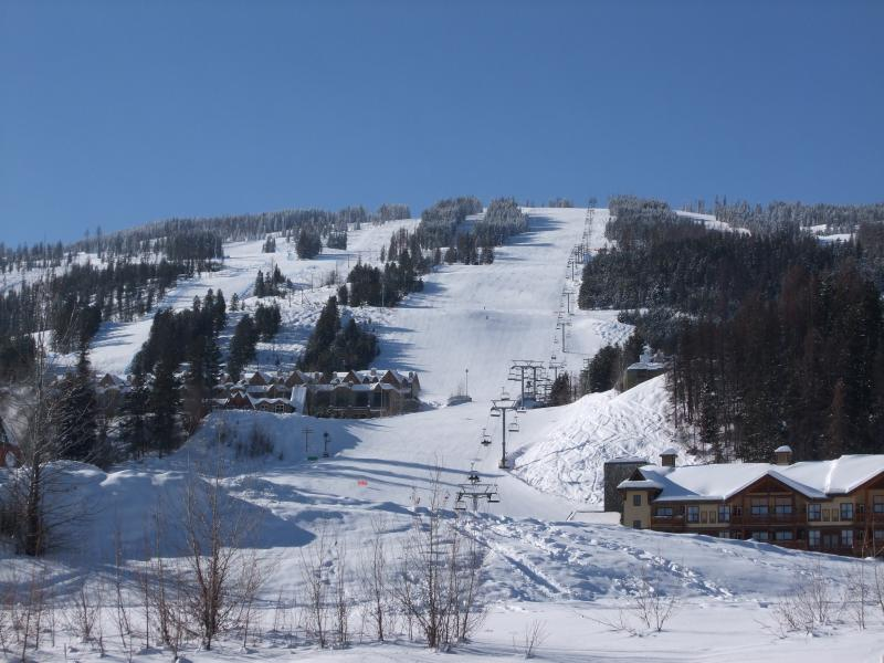 Quiet ski slopes in February 2014
