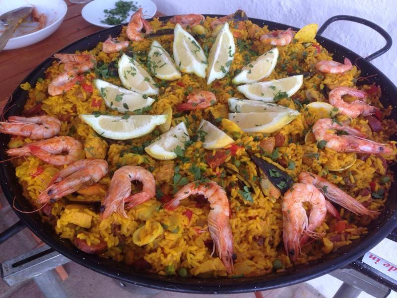 Paella, cooked by Niki (host of the connecting B&B), you are always welcome to join them!