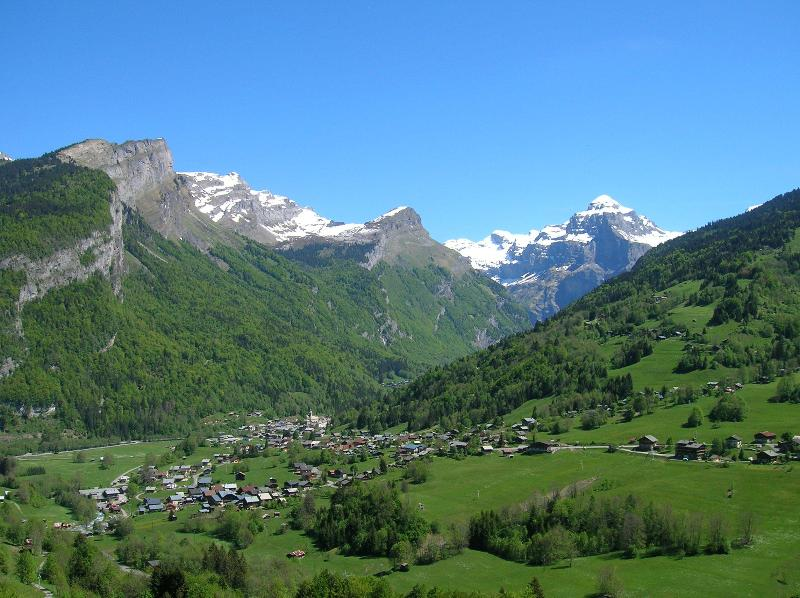 The village of Sixt in the Spring