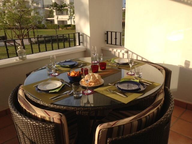 Al Fresco dining on balcony