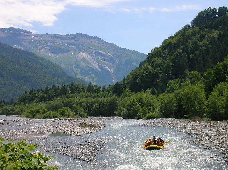 The slightly more leisurely end to your rafting trip from Sixt to Samoens