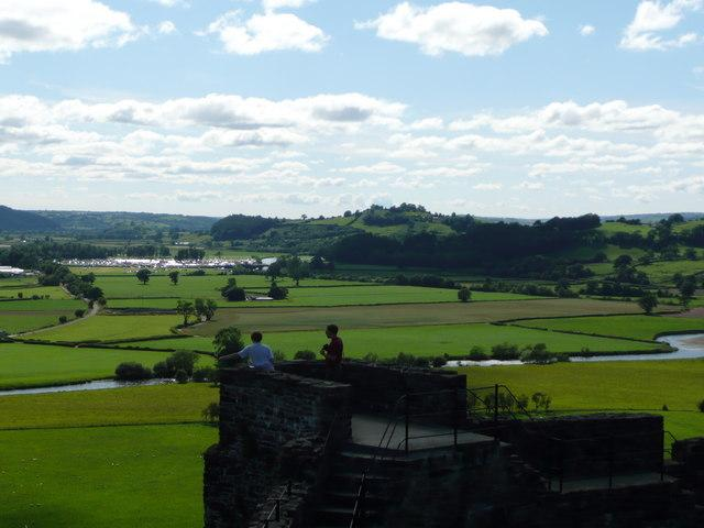 View from Dynefwr Castle looking down the Towy Valley