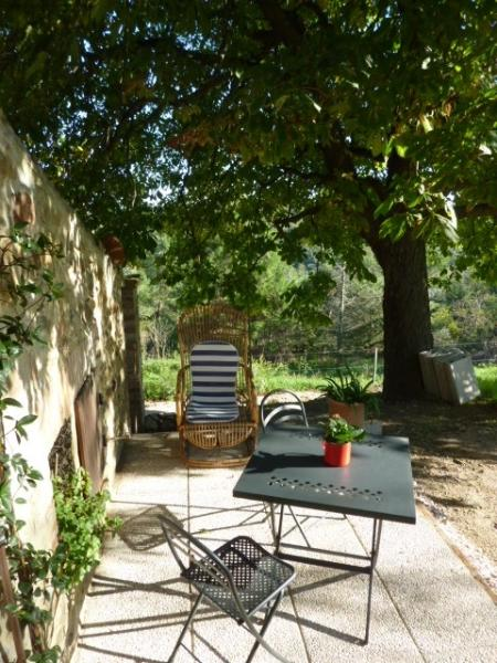 Great views down the valley from the Noci patio