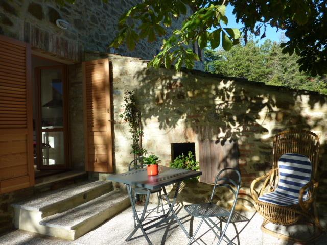 Private patio outside our Noci apartment, ideal for breakfast for two as the sun rises in the East!
