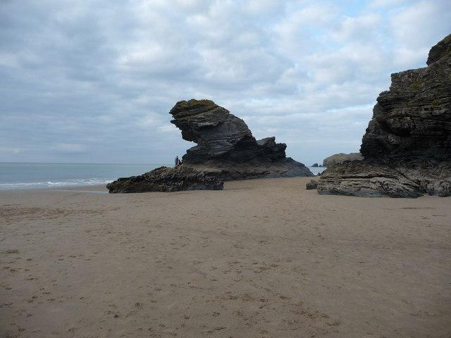 Llangrannog Beach is just 4 miles south.