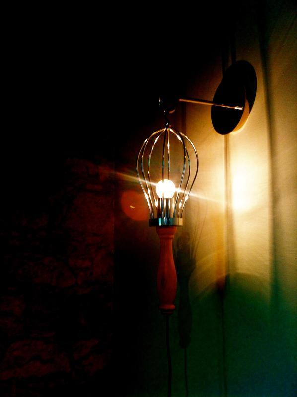 living room lamp detail