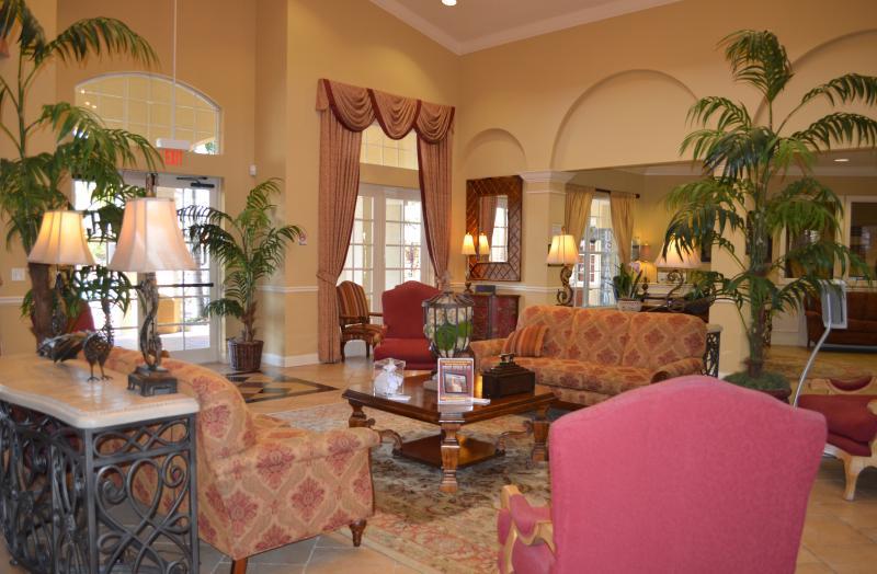 Lobby van het clubhuis